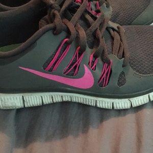 Gray Nike's